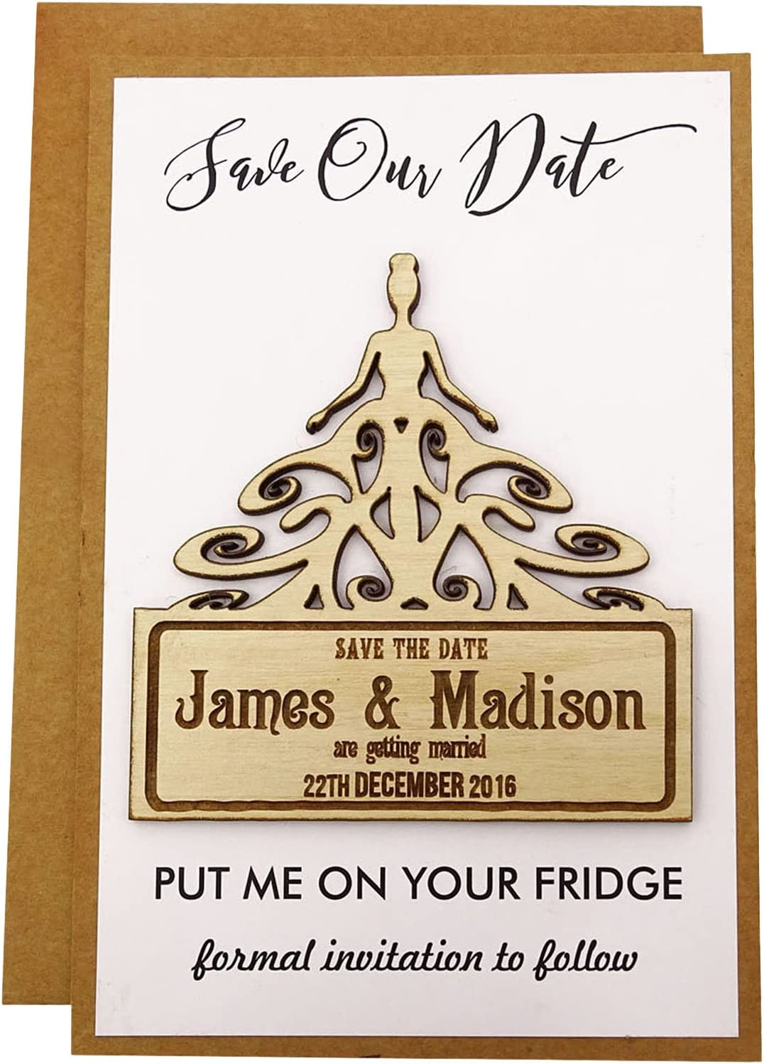 20 Custom Engraved Wooden Magnet Rustic Save Wedding We OFFer at Purchase cheap prices the Wo Date