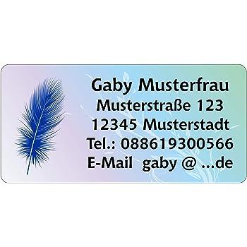 210 St/ück 54 x 25 mm 1-5 Zeilen beschriftbar Winterlandschaft Adressetiketten Adressaufkleber