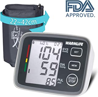 WARMLIFE Accurate Automatic Upper Arm Blood Pressure Monitor Digital BP Machine Pulse Rate Monitoring Meter with