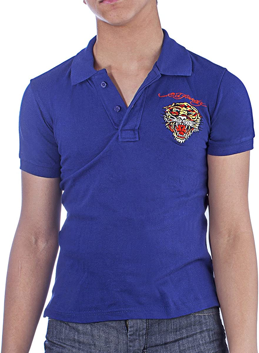 Ed Hardy Big Boys' Girls' Kids Animal Graphics Classic Polo Shirt Top