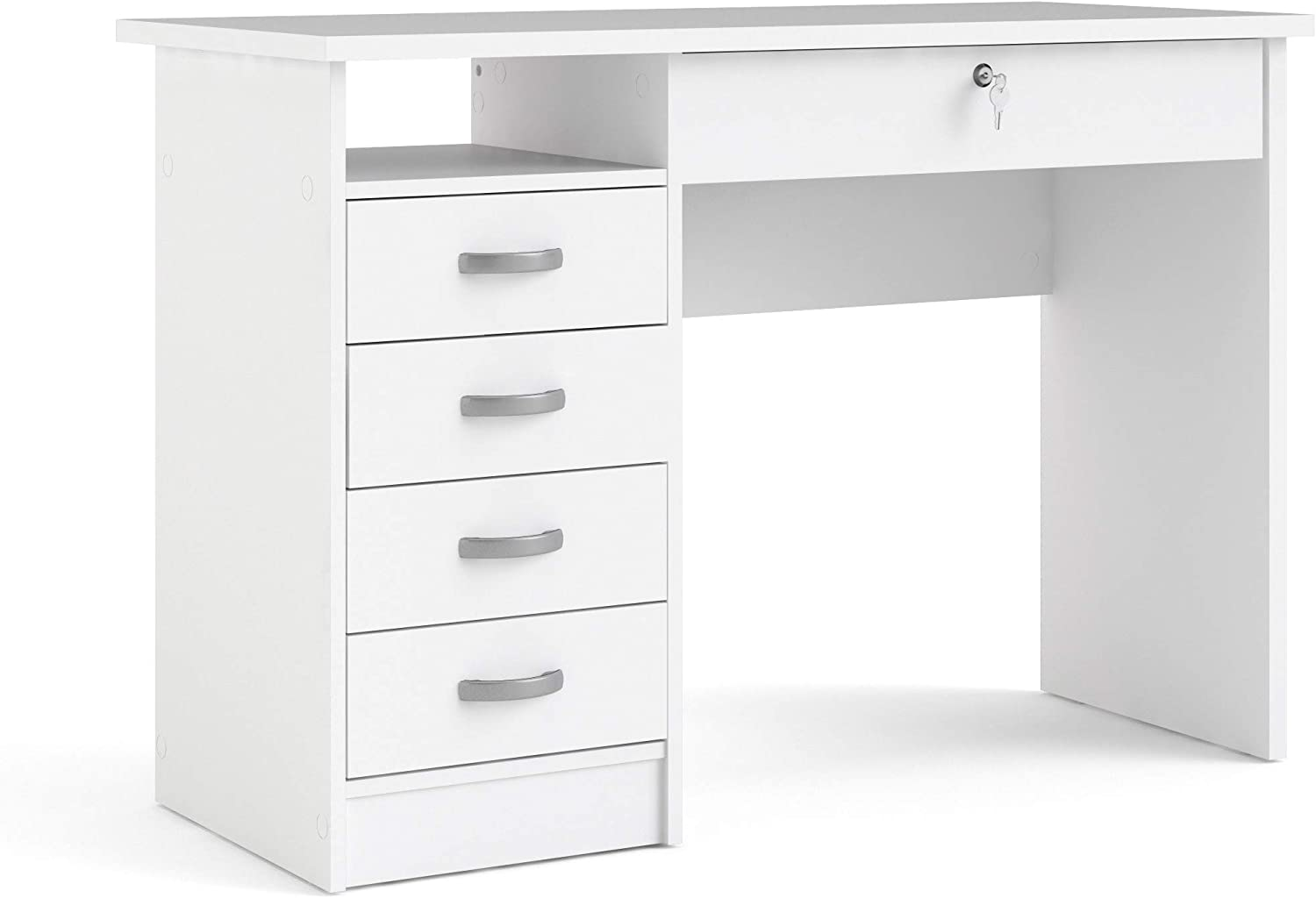 Tvilum Max 54% OFF Desk with Financial sales sale Drawers White 5