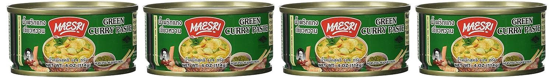 Maesri Thai Green Curry Paste Ranking TOP20 - Oz of Boston Mall Pack 4