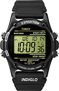 Timex Men's T5K463 Expedition Atlantis 40mm Black Resin Strap Watch