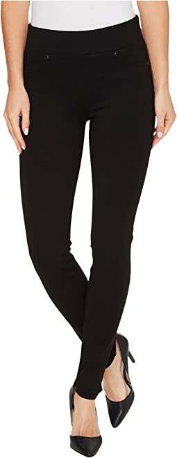 Piper Hugger Pull-On Leggings in Silky Soft Ponte Knit with Lift and Shape Qualities in Black