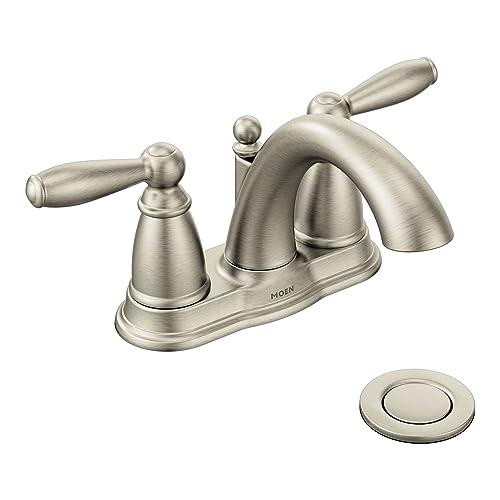 Moen Bathroom Faucets Brushed Nickel Amazon Com