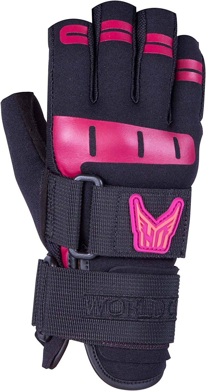HO World Cup 3 4 Womens Waterski M Sz Black Financial sales sale Pink National uniform free shipping Gloves