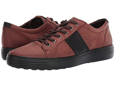 ECCO Soft 7 Summer Sneaker (Brandy/Black) Men