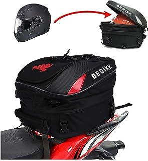 Motorcycle Tail Bag Seat Bag - Dual Use Motorcycle Backpack Waterproof Luggage Bags Motorbike Helmet Bag Storage Bags