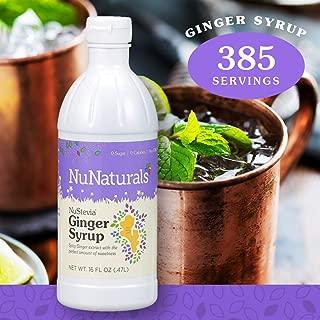 NuNaturals NuStevia Sugar-Free Ginger Syrup Natural Stevia Sweetener with 0 Calories, 0 Sugar, 0 Carbs, 385 Servings (16 oz)