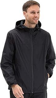 Men's Waterprooof Rain Jacket Windbreaker Jacket with Hood