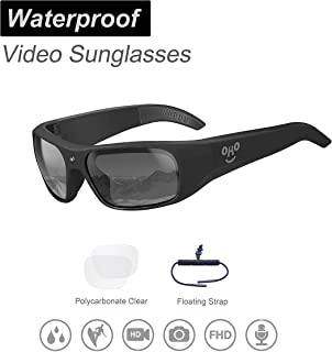 OhO sunshine Waterproof Video Sunglasses, 1080P Full HD Video Recording Camera with 32GB..