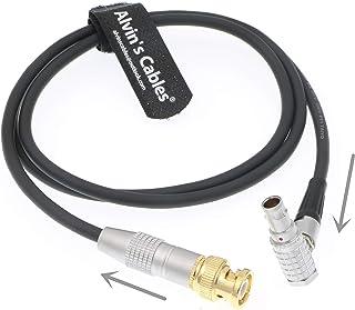Alvins Cables BNC Macho a 5 Pines ángulo Recto Macho Timecode Cable para ARRI Alexa Mini Sound Devices Zaxcom 1M