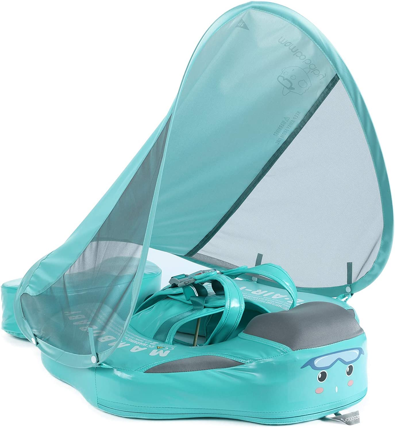 HECCEI Add Tail Newest Mambobaby Baby Swim No with At the price Dedication Canopy Float