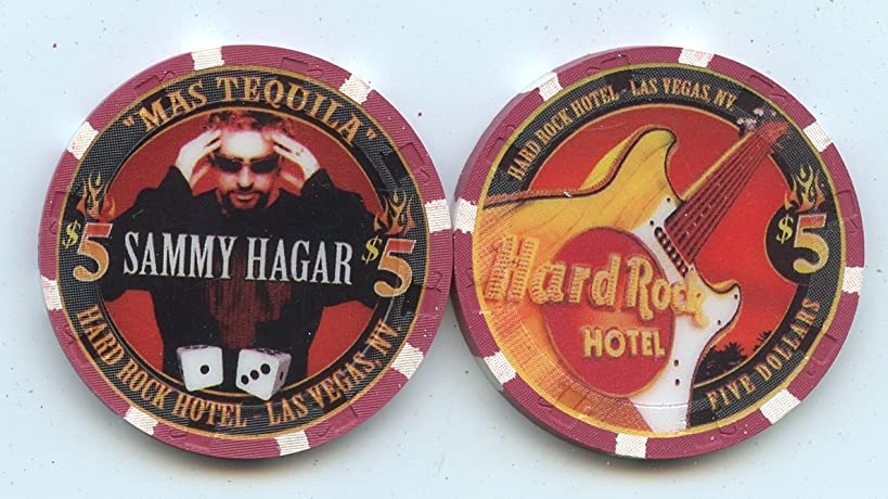 $5 Hard Rock Sammy Hagar Live at the Hard Rock Casino Las Vegas 2002 MAS TEQUILA Las Vegas Nevada Casino Chip Uncirculated Condition Collectors Chip Real live Chip from the Casino