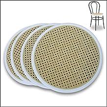 FACILCASA metalowe krzesło, okrągłe siedzisko, wymienne tworzywo sztuczne, szybka wymiana i oszczędność dzięki naszej słom...