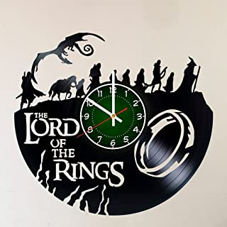 MY GIFT STORE LORD OF THE RINGS 12 INCH/30 CM VINYL RECORD WALL CLOCK Unique Art Design of FRODO - GIFT FOR BOYS - Gandalf Frodo Baggins Aragorn design