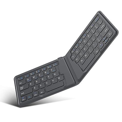4bf5a1cd01f MoKo Wireless Bluetooth Keyboard, Ultra-Thin Foldable Rechargeable Keyboard  for iPhone, iPad 9.7