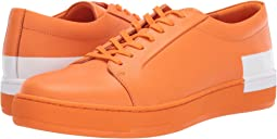 Orange Nappa Smooth Calf/Logo Over Print