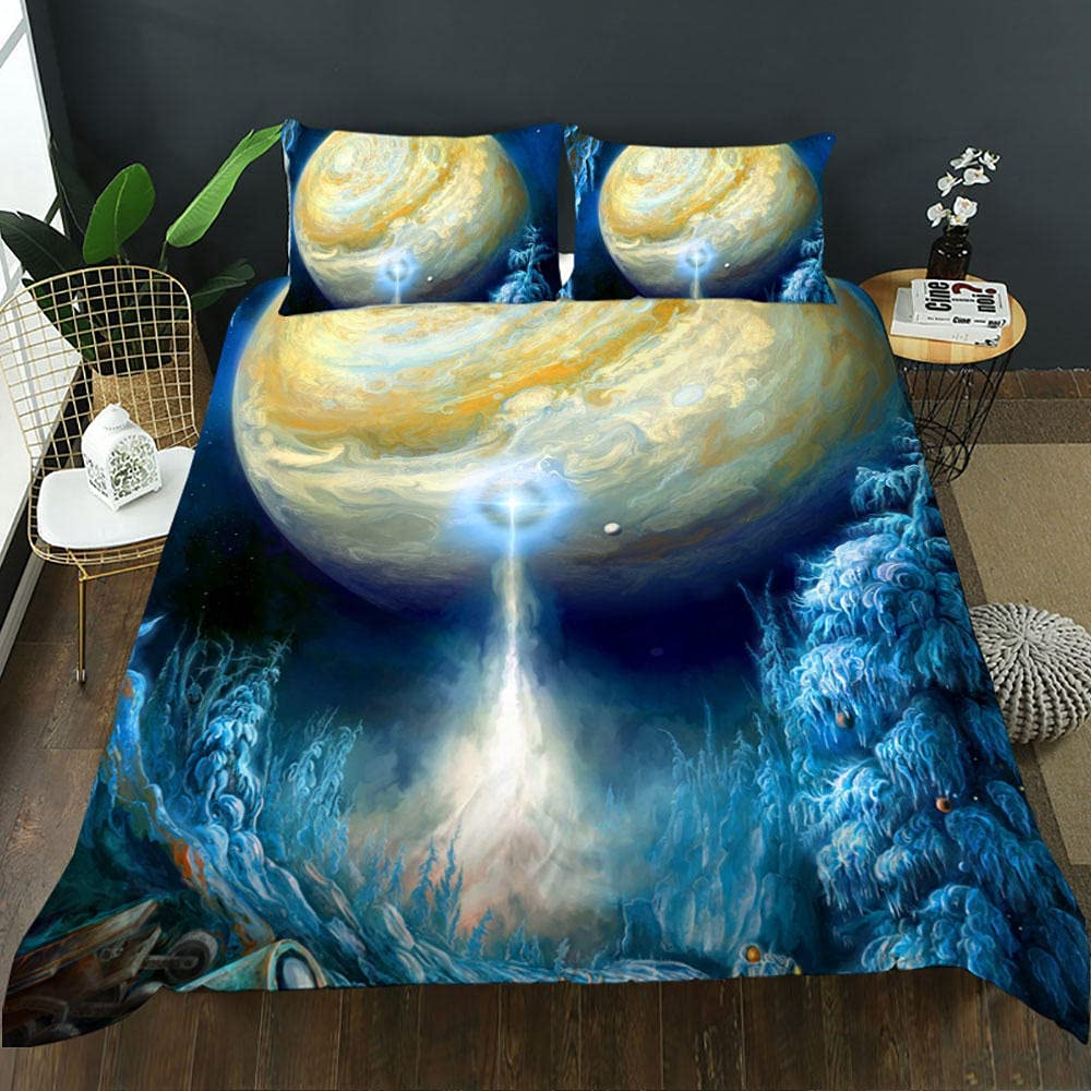 King Duvet Cover Planet Bedding inch Spasm price 1 wi gift 104x90 Comforter