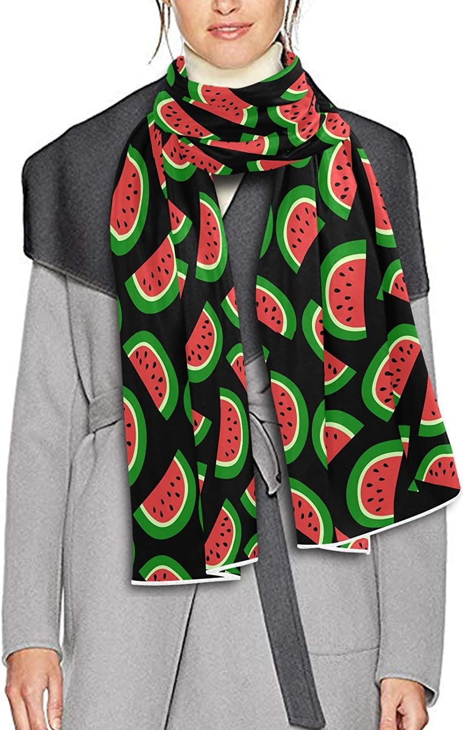 Scarf for Women and Men Watermelon Fruit Red Blanket Shawl Scarves Wraps Thick Soft Winter Oversized Scarf Lightweight