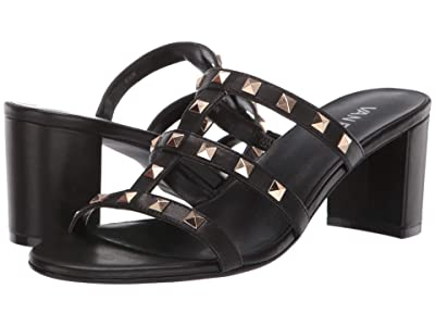 Vaneli Mayda (Black Nappa/Gold Trim) High Heels