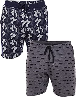 VIMAL Jonney Cotton Blended Pack of 2 Shorts-N9_ARM_NVY_D11_KF_BLK_02-P