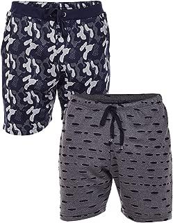 VIMAL JONNEY Cotton Blended Pack of 2 Shorts-N9_ARM_NVY_D11_KF_BLK_02-P
