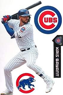FATHEAD Kris Bryant Chicago Cubs Logo Set Official MLB Vinyl Wall Graphics 17