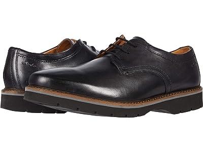 Clarks Bayhill Plain (Black Leather) Men