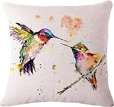 Oil Painting Bird Hummingbird Throw Pillow Case Cushion Cover Decorative Cotton Blend Linen Pillowcase for Sofa 18 X 18 ? ¡