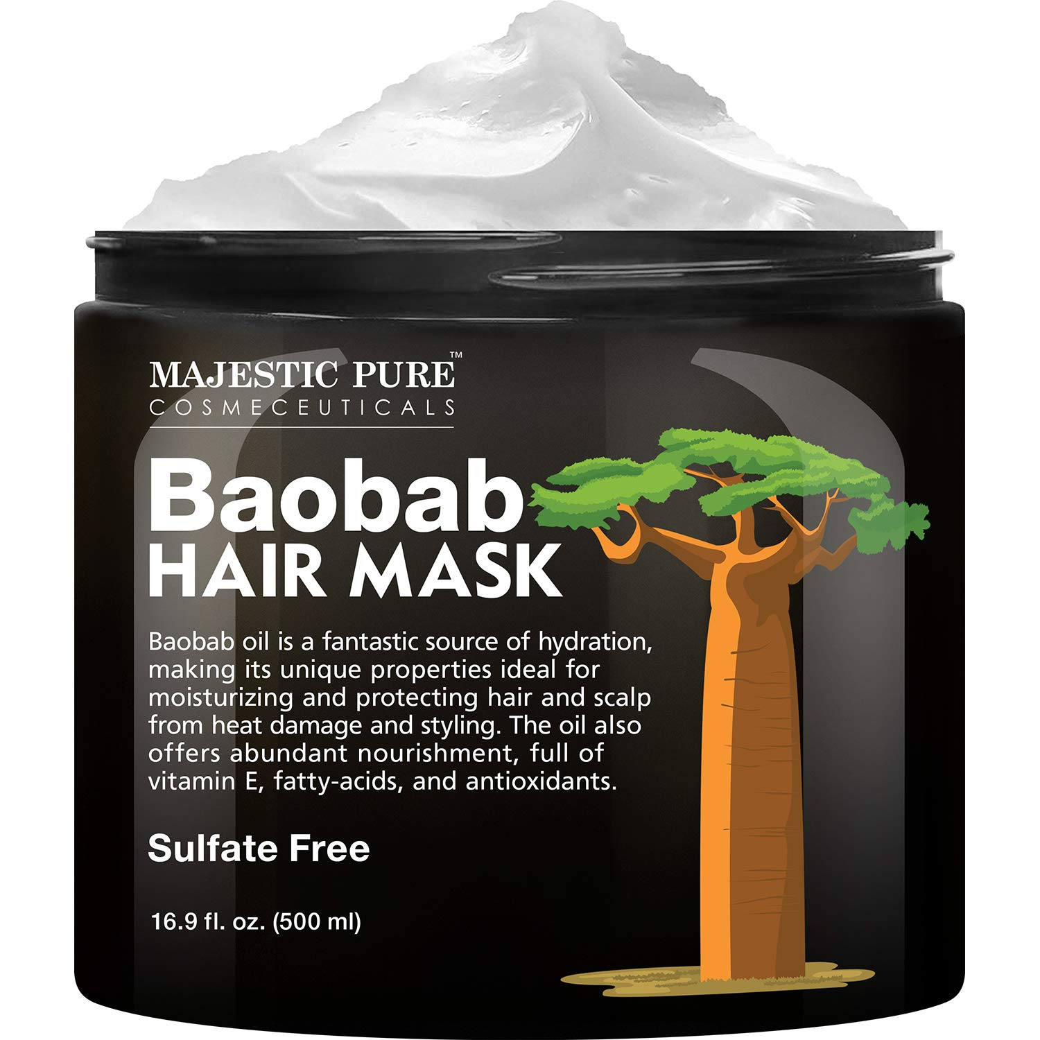 Baobab Large-scale sale Hydrating Hair Mask by Pure Las Vegas Mall Nourishing Smooth - Majestic