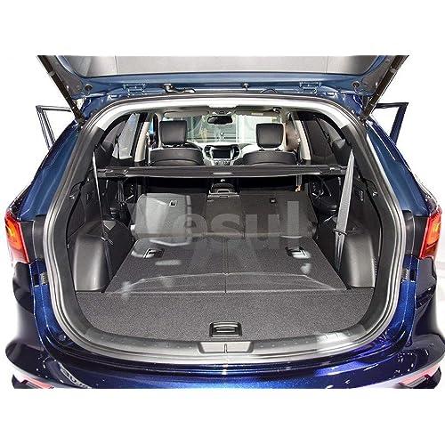 Vesul Black Tonneau Cover Rear Trunk Cargo Luggage Security Shade Fits on Hyundai Santa Fe Sport