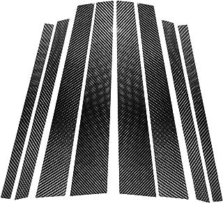 Carbon Fiber Door Window B+C Pillar Post Panel Frame Decal Cover Trim for BMW X5 X6 E70 E71 2008-2013 E7001