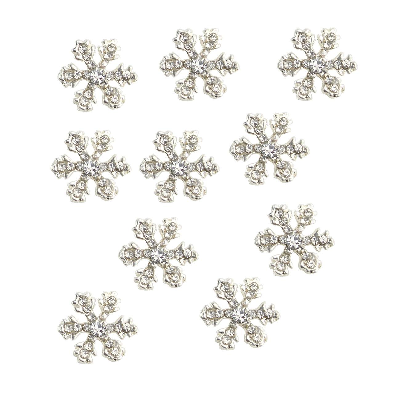 タイトグループポスターCUHAWUDBA 10枚 ラインストーン 3D 合金スノー 蝶結びナイルアート キラキラ DIYデコレーション(B)
