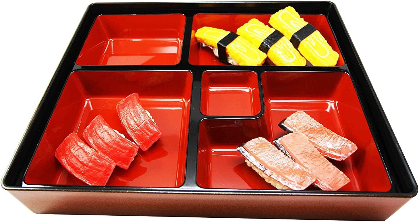Japanese Gold Colored 5 Compartments Box Piece Two Fixed price for sale Lacquer Bento Max 75% OFF