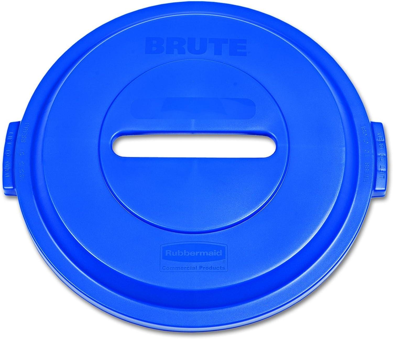 Rubbermaid 1788378 Brute schwere rund Abfall Utility Container, 32-gallon Kunststoff Papier Recycling Deckel, blau B0063ELAXS       Erschwinglich