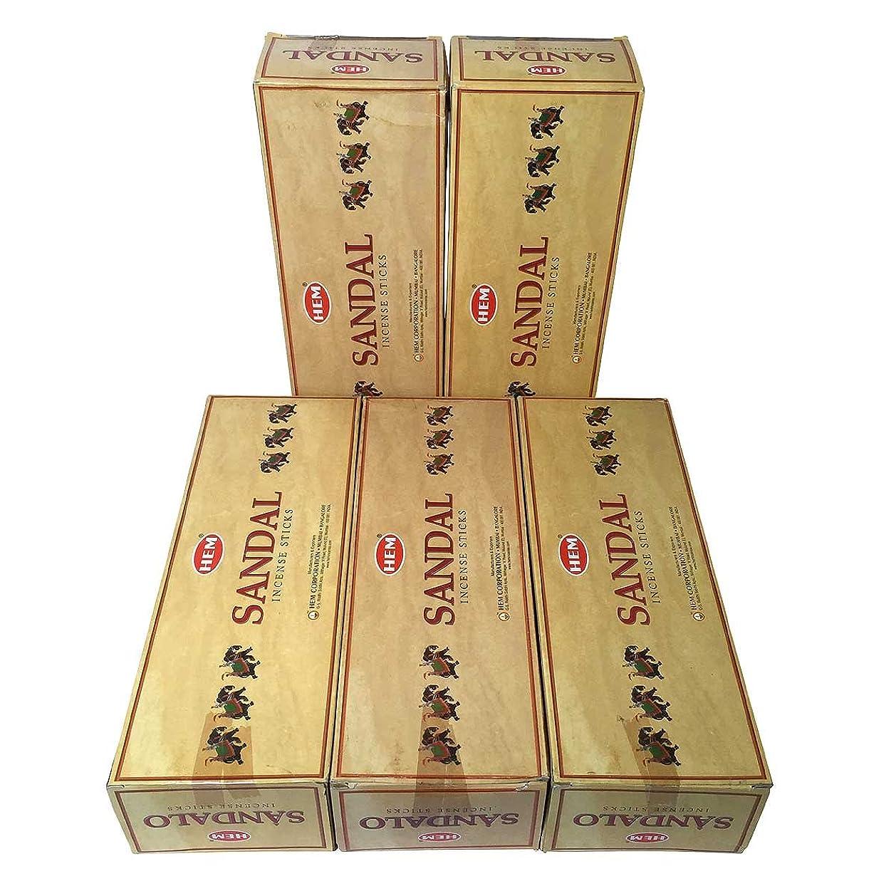 解釈女性サラダHEM プレシャス サンダル香 スティック 5BOX(30箱)/HEM SANDAL/ インド香 / 送料無料 [並行輸入品]