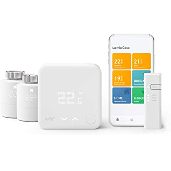 tado° Termostato Intelligente Kit di base V3+ con 2 Teste Termostatiche Intelligenti, per Controllo Multi-Stanza, Facile Installazione fai da Te, Progettato in Germania