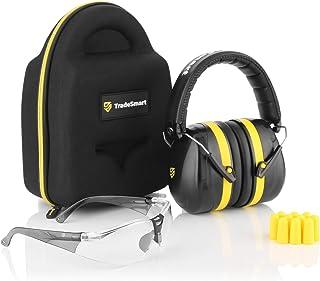 TRADESMART Shooting Ear Muffs , Protective Case , Gun Safety Glasses & Earplugs