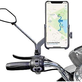 Homeet Soporte Móvil Moto, Soporte Telefono Motocicleta Retrovisor ...