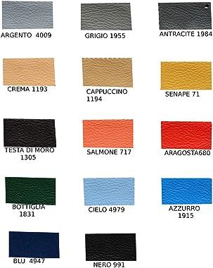 Trama Toscana Leonardo Tête de lit en cuir synthétique de luxe pour lit double H 94/106 cm Largeur 180 cm