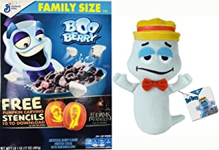 BOOOO... Scared Ya! Limited Halloween Edition General Mills Halloween Limited Edition BlueBerry Frosted Marshmallows Family Size Cereal - 17oz + Boo Berry Ghost 7