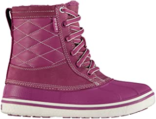 Official Brand Crocs AllCast Leather Duck Boots Womens Viola/White Footwear Shoes