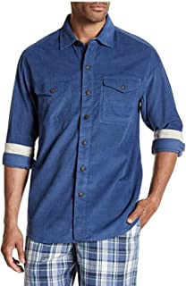 Men's Long Sleeve Harrison Cord Standard Fit Button Front Shirt