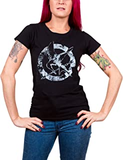 The Hunger Games T Shirt Down with The Capitol Official Womens Junior Fit Black