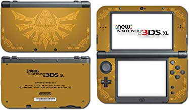 Zelda Hyrule Gold Edition Triforce Heroes Majora's Mask Video Game Vinyl Decal Skin Sticker Cover for the New Nintendo 3DS XL LL 2015 System Console by Vinyl Skin Designs
