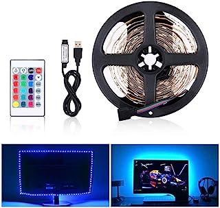 comprar comparacion LED Tira de TV, Tiras LED Iluminación 5V 4m 120leds 5050 Tira de luz suave coloreada, colorido Luz de fondo de TV con 24 t...