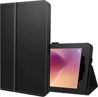 ZtotopCase for Samsung Galaxy Tab A 8.0 2017 Release for T380/T385, Folio Leather Tablet Cover with Auto Wake/Sleep Feature,Black