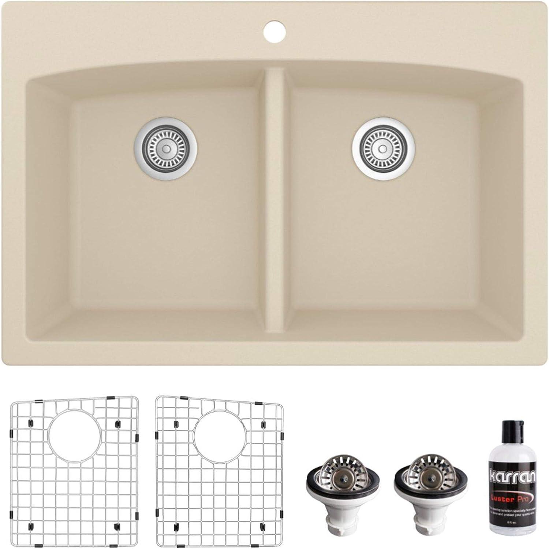 Karran QT-710-BI Drop-in Quartz Composite New product type 50 Do 33 in. 1-Hole online shopping