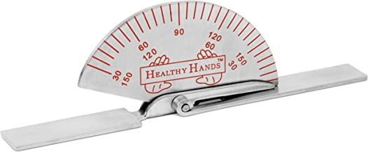 BH SUPPLIES Healthy Hands Stainless Steel Finger Joint Goniometer - Measure Range of Motion - Small 3.5 inches
